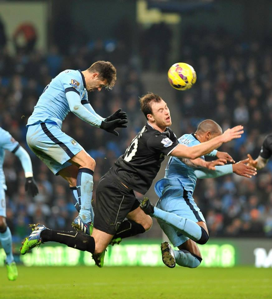 Defenceless - Demichelis and Mangala were outmuscled by Burnley's frontmen. Courtesy@MCFC