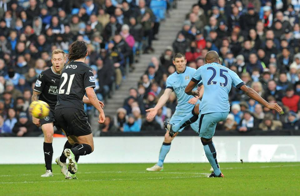 Super strike - Dino hit his first goal of the season...and it was a beauty. Courtesy@MCFC