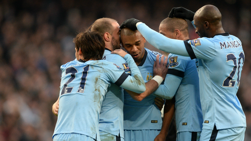 Samba sensation - Fernandinho struck an exquisite second goal. Courtesy@MCFC