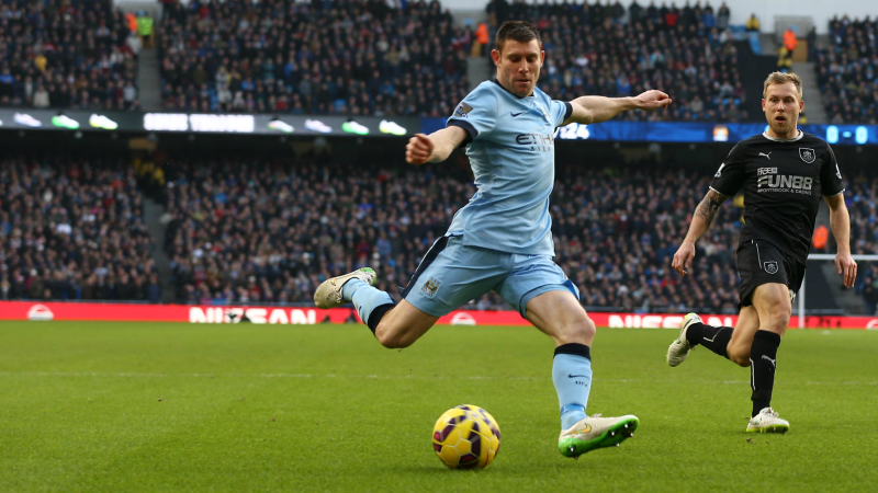 Grafter - James Milner worked hard as a makeshift centre forward, but will he stay at City? Courtesy@MCFC