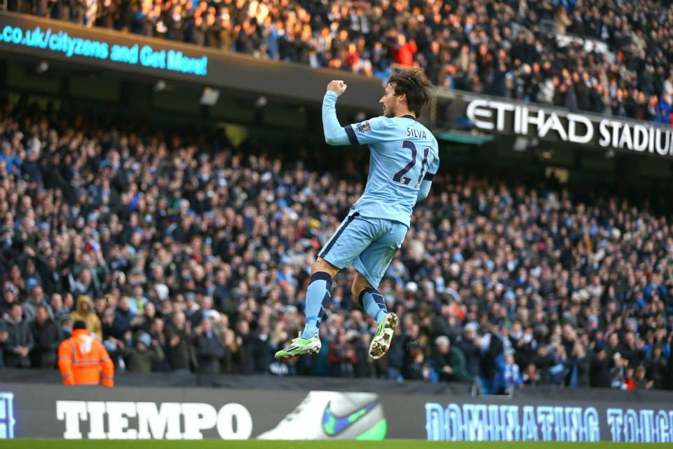 Flying wizard - David Silva is THE best player in City's history. Courtesy@MCFC