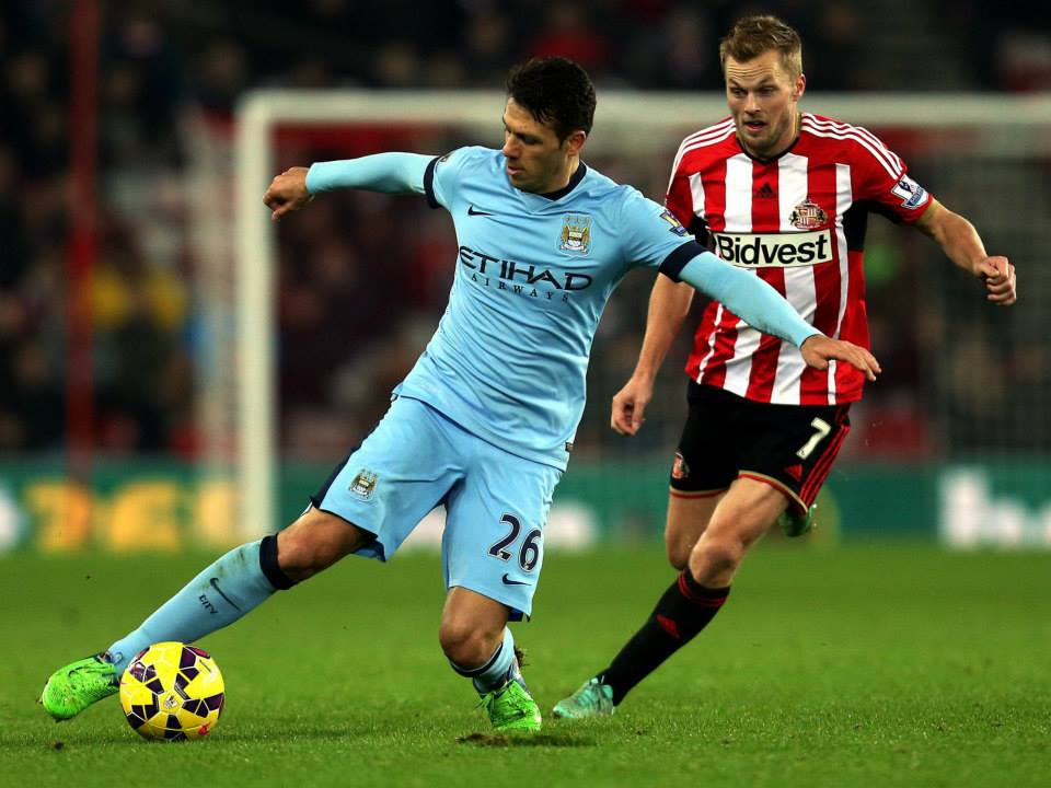 Demi God - Martin Demichelis marshalled City's backline in the absence of Vincent Kompany. Courtesy@MCFC