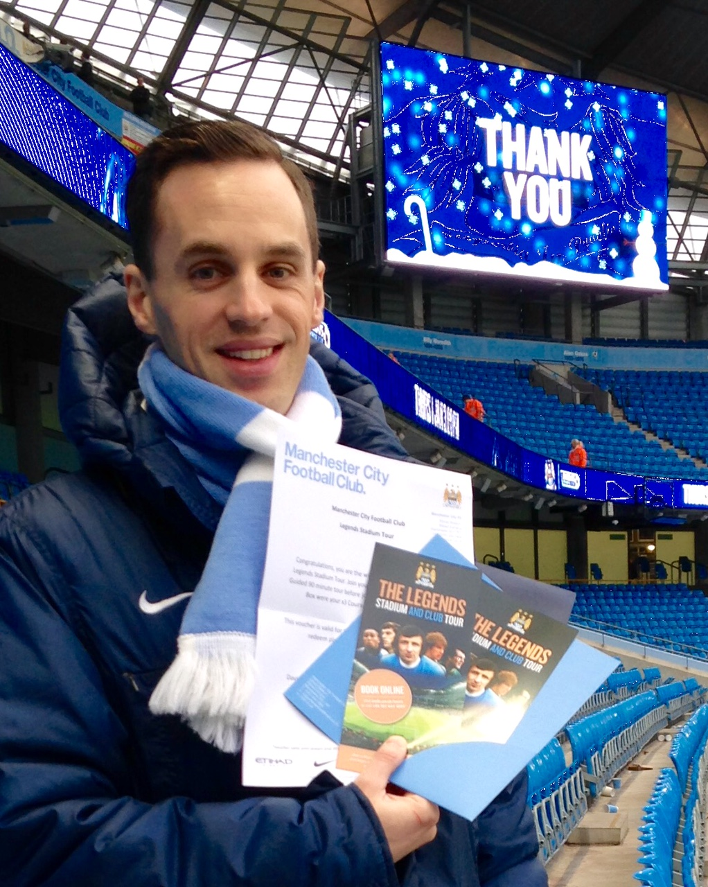 Picking a winner -  Man City Business Executive David Smith pulled the winner's name out of the lucky dip draw.