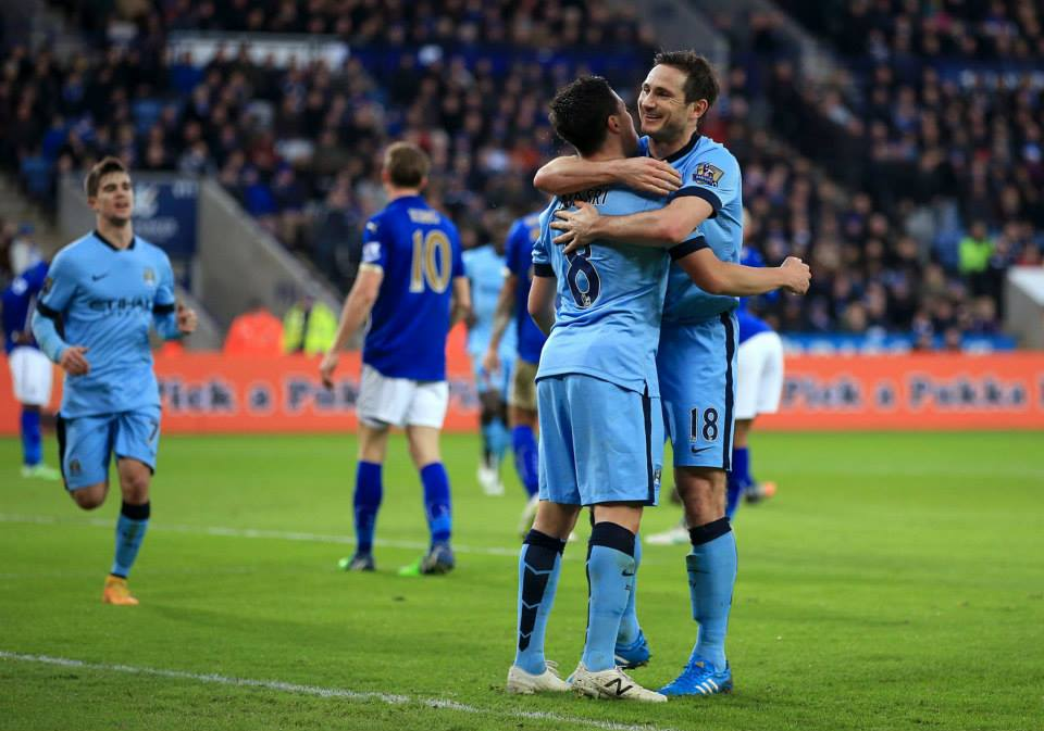 Anglo-French entent cordiale - Super Frank & Samir celebrate City's winner. Courtesy@MCFC