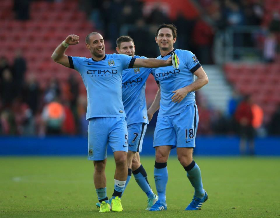 Zaba Daba That'll Doo - Pablo Milly and Lamps acknowledge the win at Southampton. Courtesy@MCFC