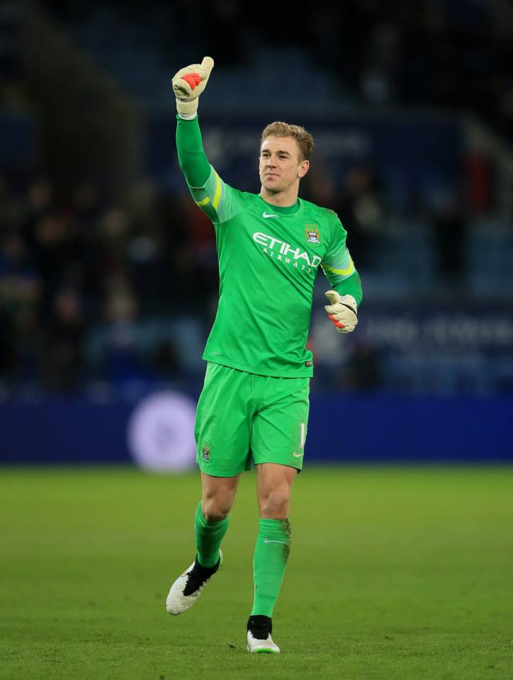 Thumbs up - Joe Hart and his City team mates want to stuff it up UEFA and their flawed FFP regulations. Courtesy@MCFC