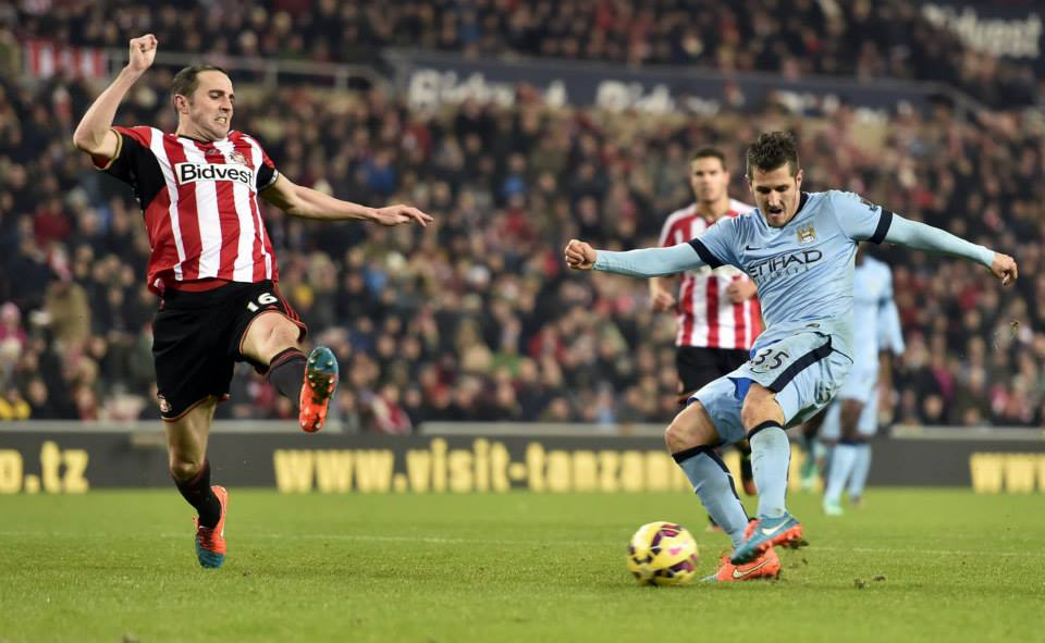 Blinder - Jovetic scores City's second at the Stadium of Light. Courtesy@MCFC
