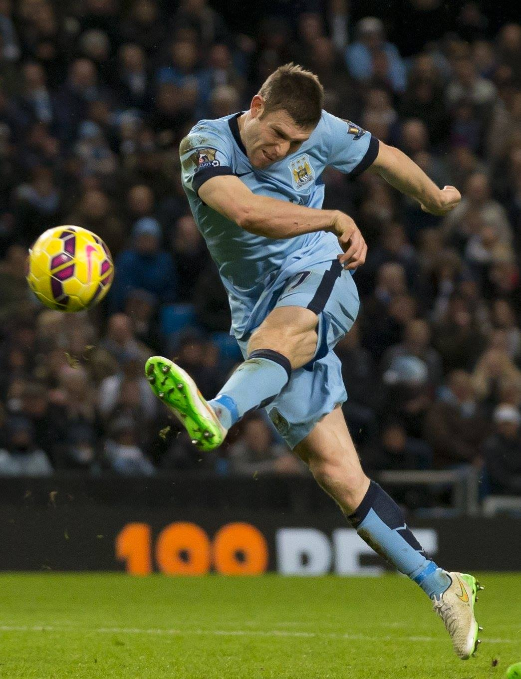 Action Man - James Milner was Man of The Match, as voted for by the Eitihad crowd. Courtesy@MCFC