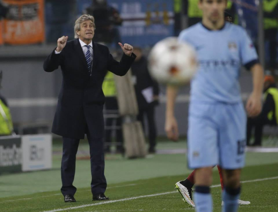 Italian chic - Pellegrini was a smart cookie as his tactics and team selection saw City through to the last 16 of the Champions League. Courtesy@MCFC