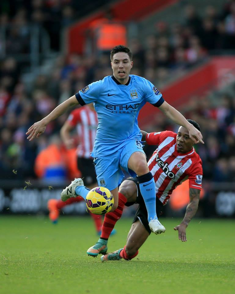 French Connection - Nasri worked hard in both attack and defence. Courtesy@MCFC