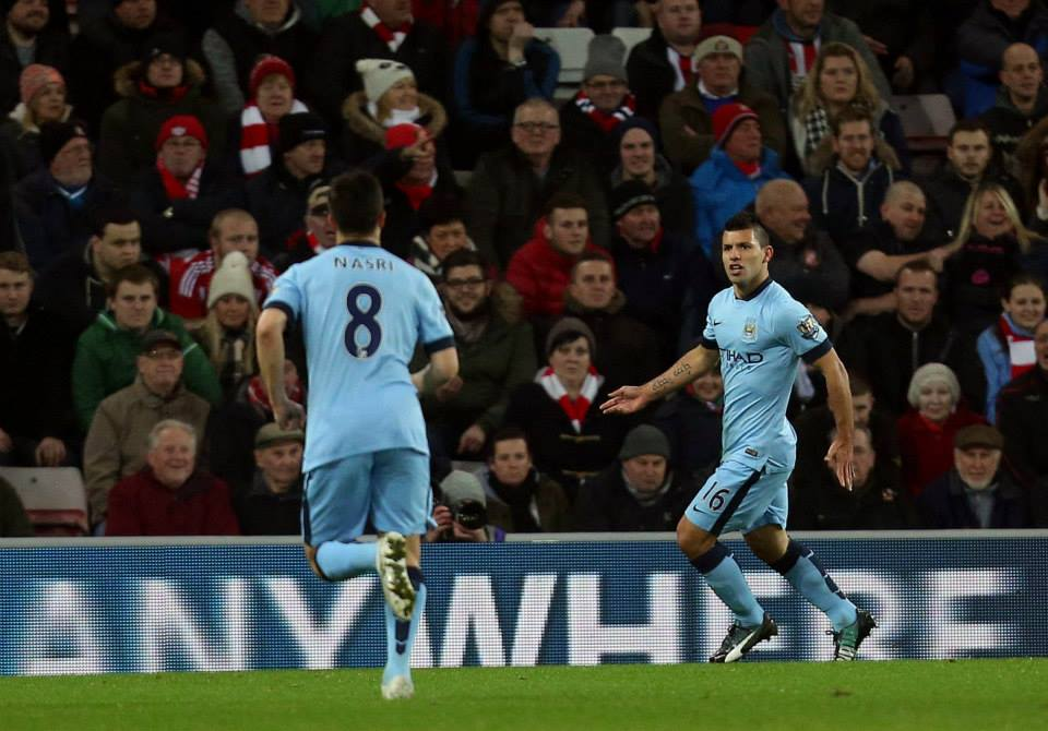 1-0 no more - Aguero starts the beginning of the end of City's Sunderland jinx. Courtesy@MCFC