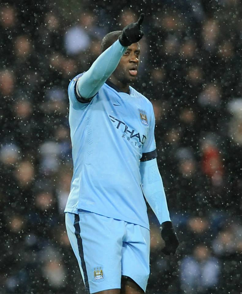 Warm welcome back - Yaya swapped Africa for Manchester. Courtesy@MCFC