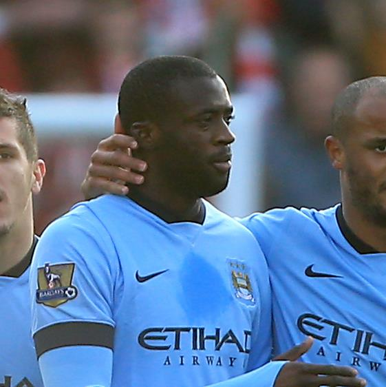 Three's a welcome crowd - Jovetic, Yaya and Kompany could all return at Leicester. Courtesy@MCFC