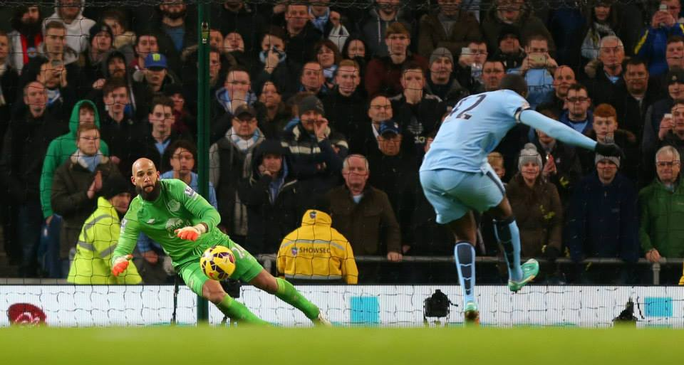 Magnificent Seven - Yaya has a 100% success rate from the penalty spot in the Premier League. Courtesy@MCFC