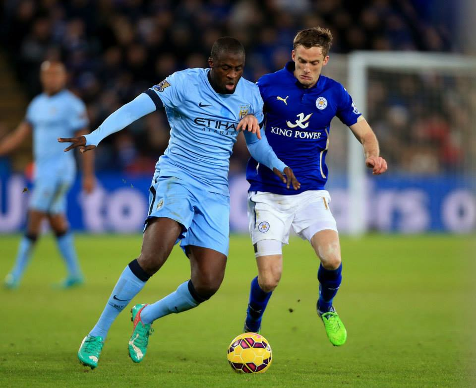 On the ball - Yaya was back in action after missing out in Rome. Courtesy@MCFC