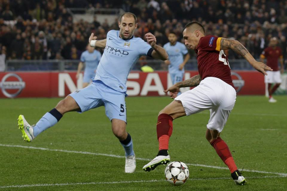 Zaba Daba Doo - Pablo was back to his best in Rome. Courtesy@MCFC