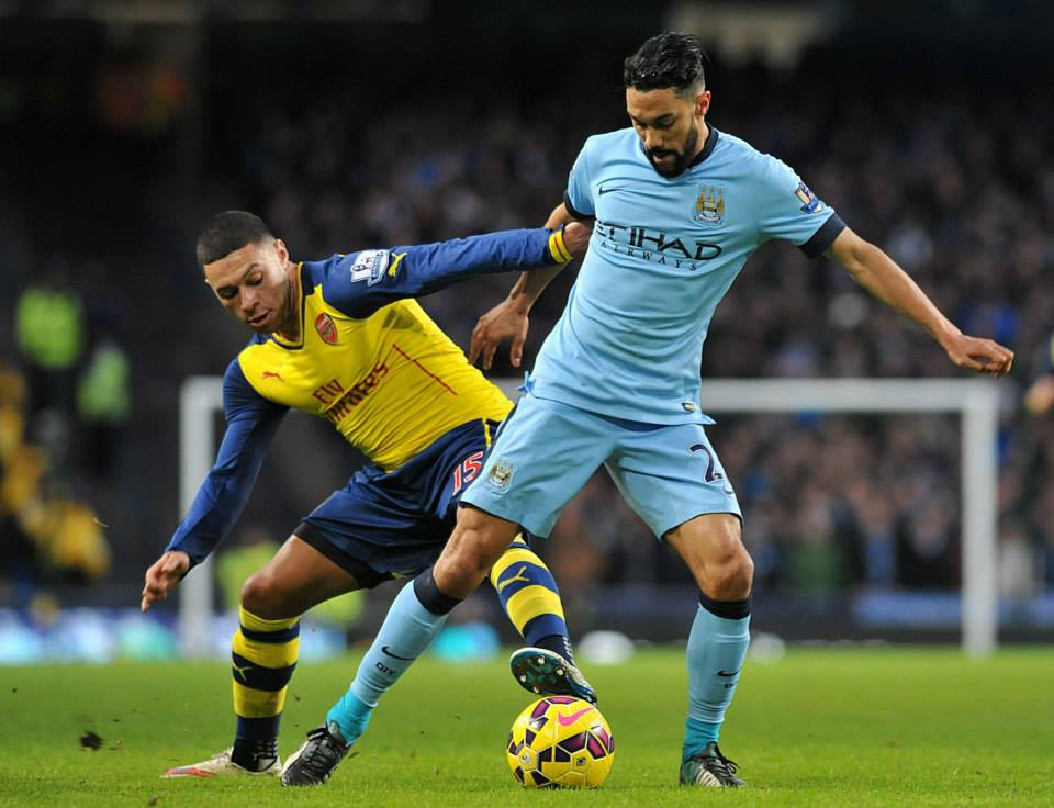 Misfiring - Ex-Gooner Gael Clichy was the best of a bad bunch as City slumped to defeat. Courtesy@MCFC