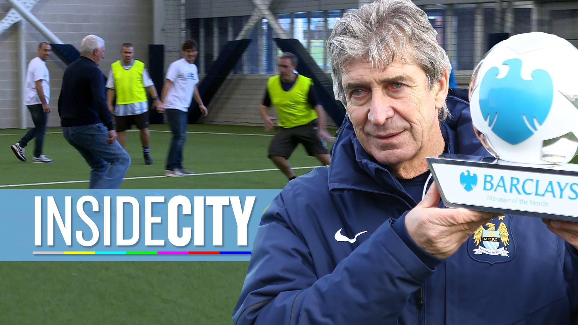Man of the moment - Manuel throughly deserved his December Manager of the Month Award. Courtesy@MCFC