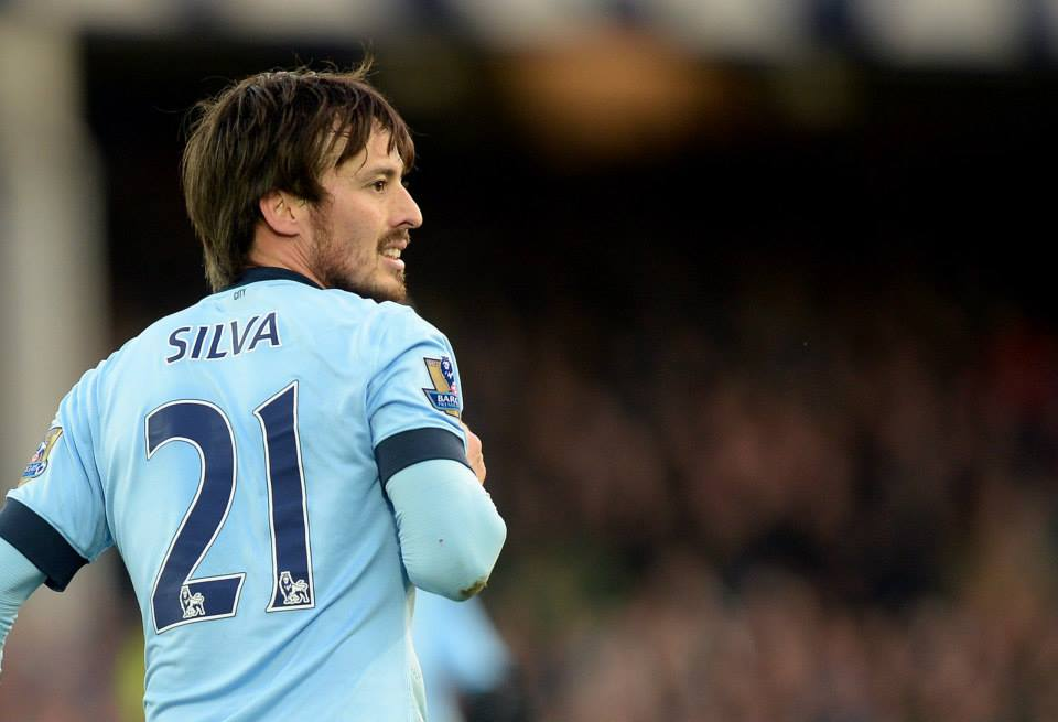 Double strike - Silva boosted his goal haul to nine in the Premier League this season. Courtesy@MCFC