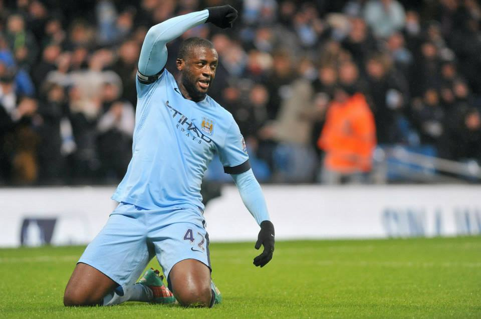 Out in Africa - How City could have done with Yaya sliding into Manchester against Arsenal. Courtesy@MCFC