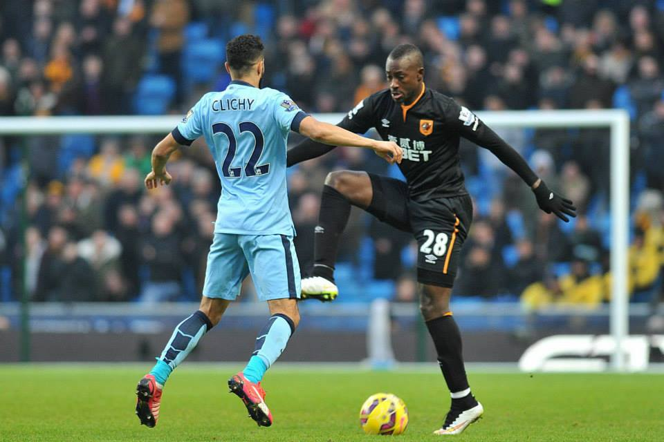 Stand up performance - Clichy was one of the few City players who emerged with any degree of credit from a desperate showing against Hull. Courtesy@MCFC