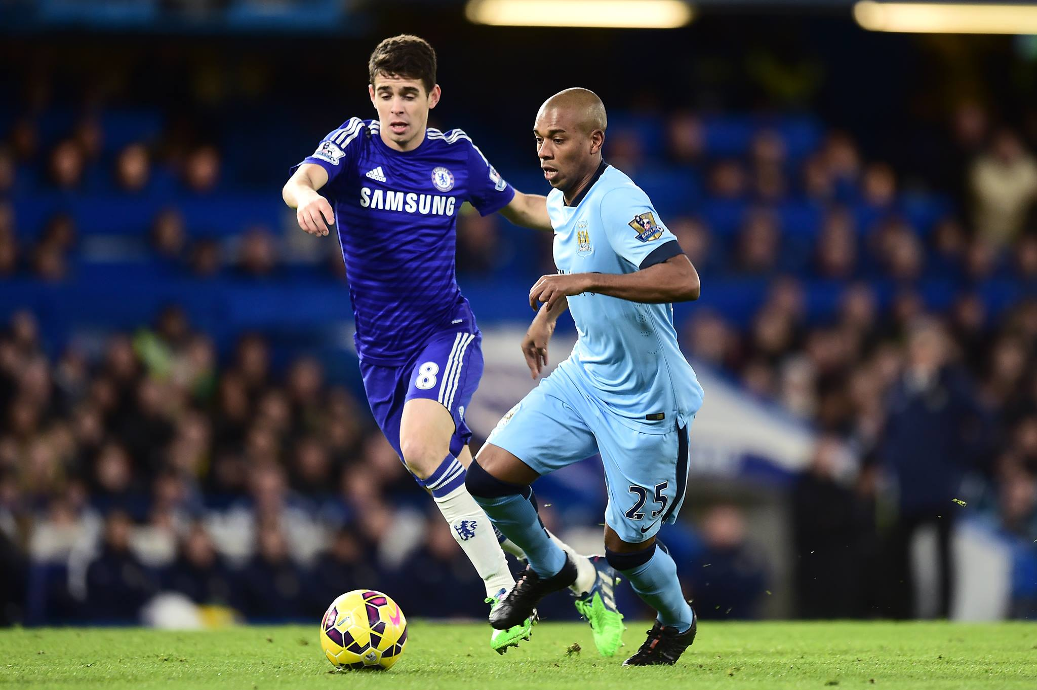 Oscar winning performance - And the award goes to Fernandinho in the 'Tale of Two Brazilians'. Courtesy@MCFC