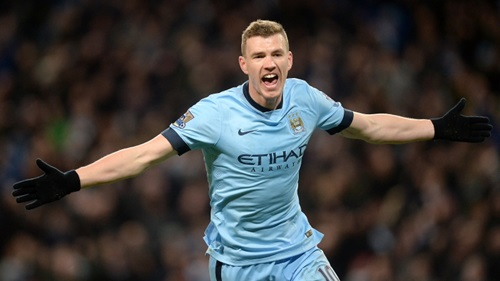 Edin out - Dzeko has been a major disappointment this season. Courtesy@MCFC