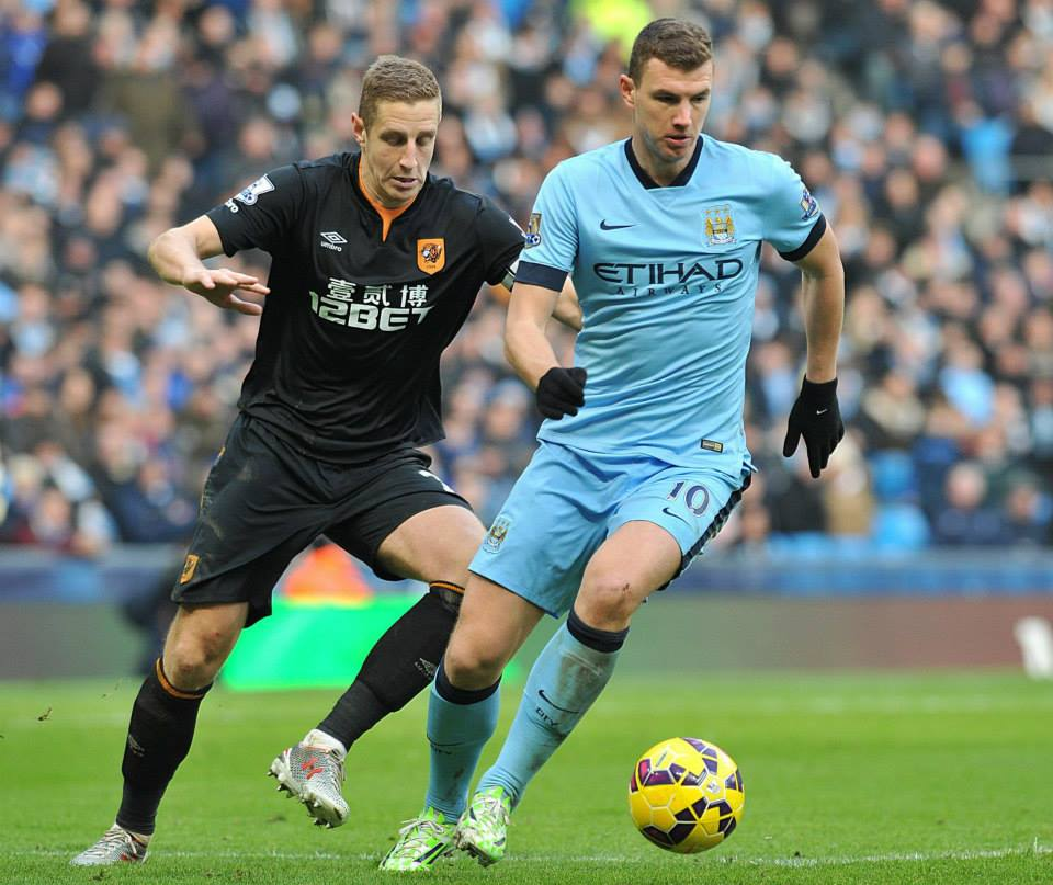 So close - Dzeko forced a great save from Hull keeper McGregor. Courtesy@MCFC
