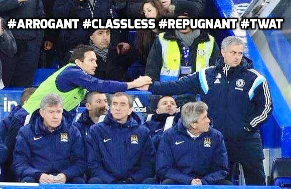 Lack of respect - Mourinho is a classless individual.