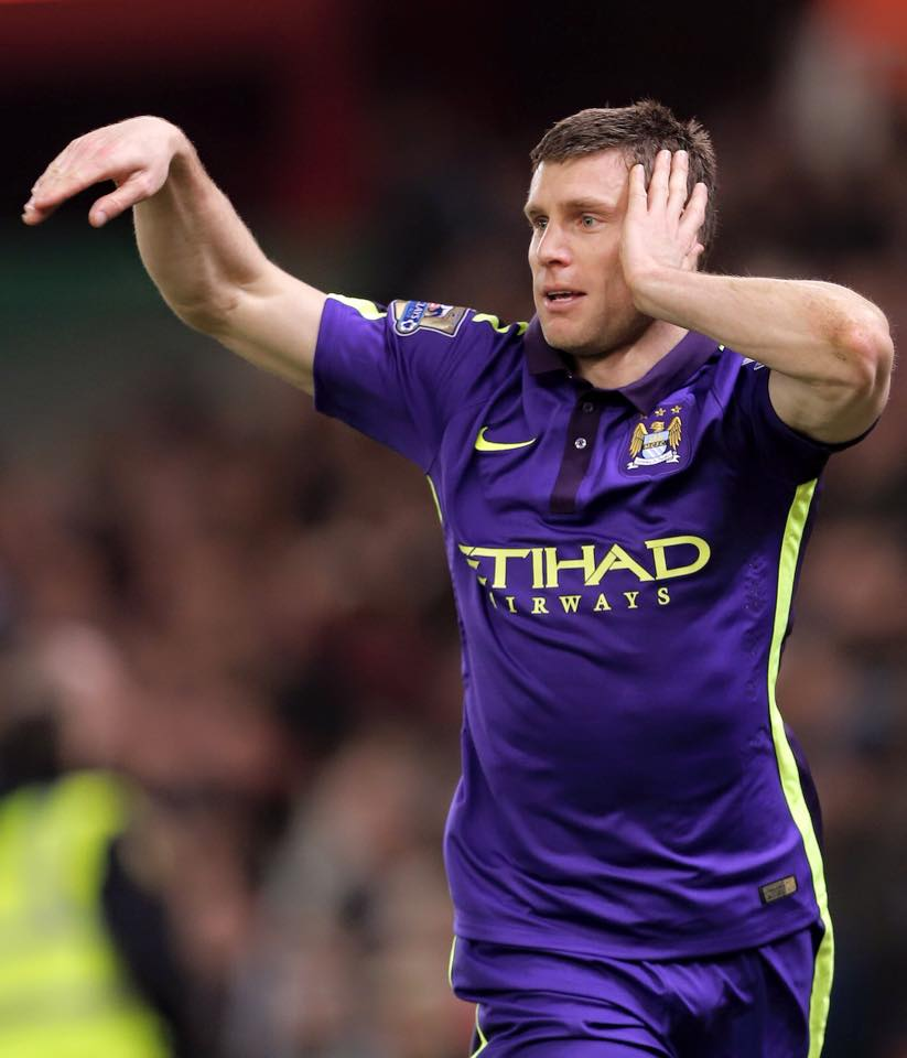 Purple patch - James Milner was serenaded by City fans, eager for him to stay at the Etihad. Courtesy@MCFC