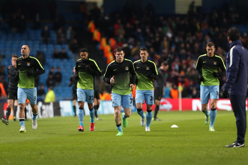 Warm up...before City felt the chill of Champions League defeat. Courtesy@MCFC
