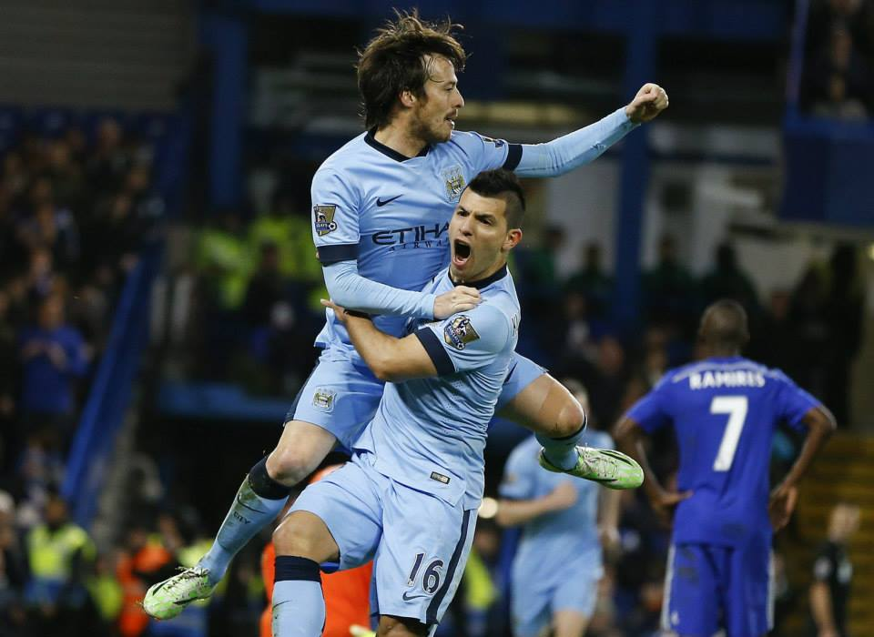 Dynamic duo - Milner benefitted from playing alongside genuinely world class stars such as Silva & Aguero. Courtesy@MCFC