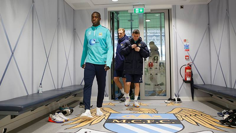 Making an entrance - Yaya is back at the CFA after leading the Ivory Coast to AFCON glory. Courtesy@MCFC
