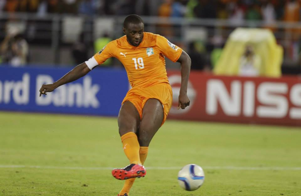 No mistake - Yaya smashed home his penalty in Ivory Coast's dramatic 9-8 shootout win over Ghana. Courtesy@MCFC