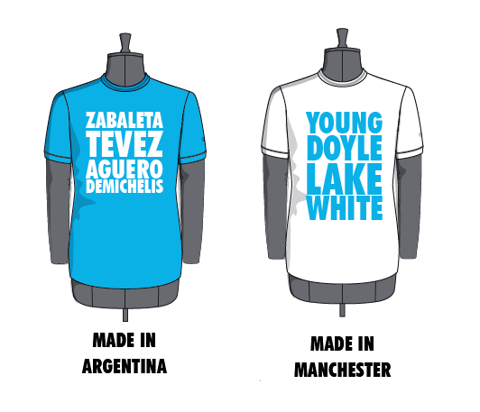 Argentina or Manchester - which T-shirt from CampoRetro do you prefer?