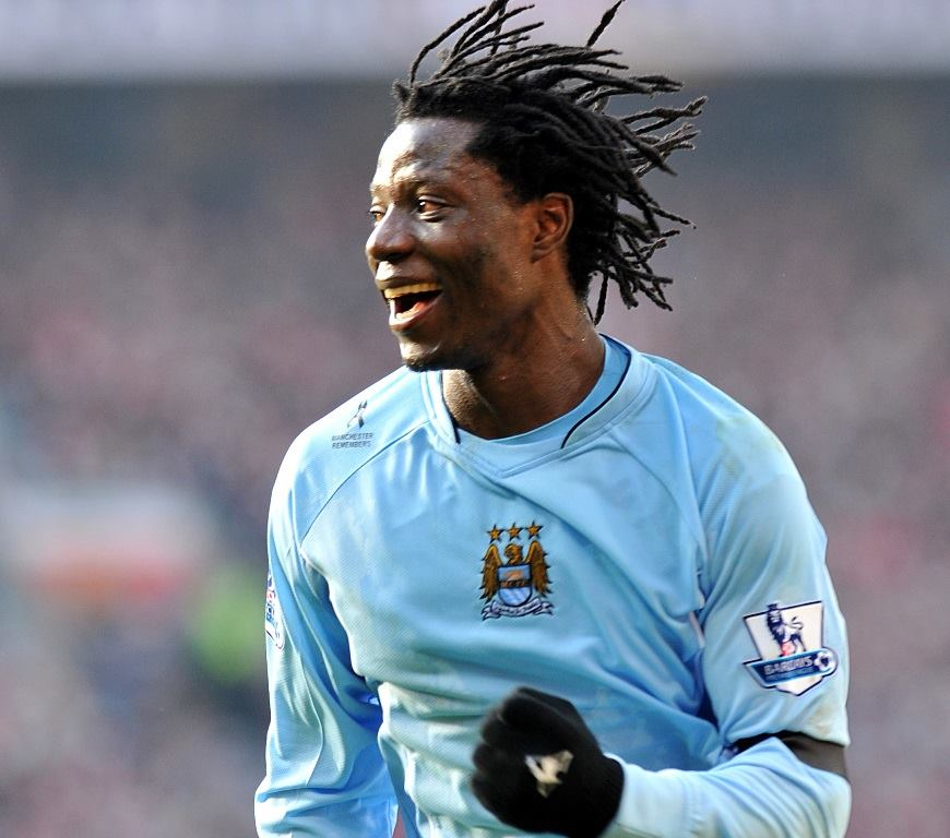 Blast from the past - Benjani scored in City's memorable win at Old Trafford in 2008 - their first on enemy territory for 34 years. Courtesy@MCFC