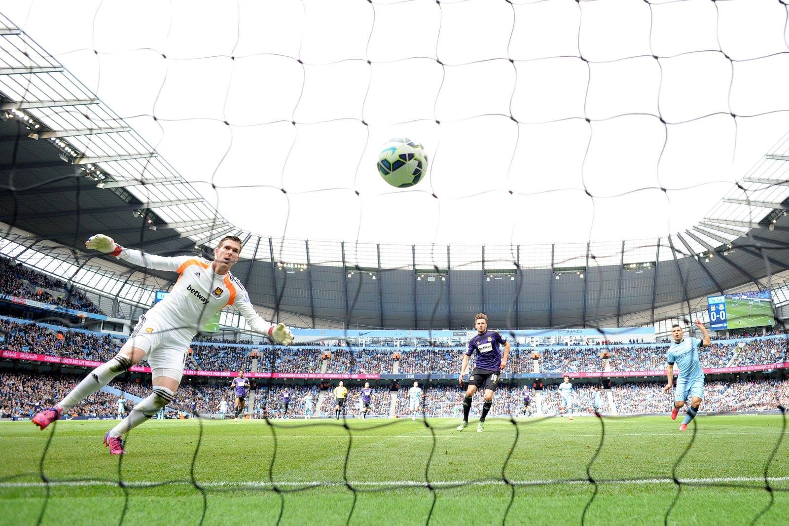 Received with thanks - West Ham's James Collins scored a cracking own goal for City. Courtesy@MCFC