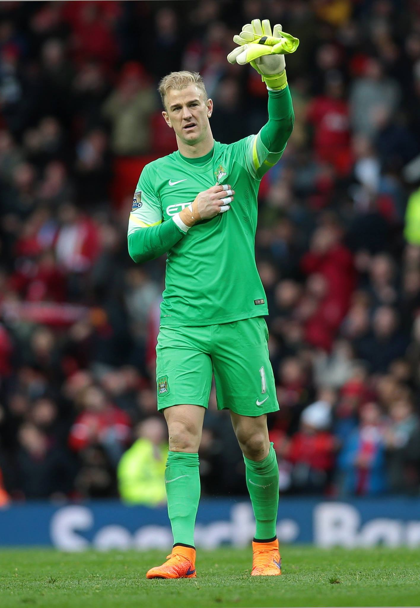 Hart-ache - Joe shows his pain at the end of the derby day defeat. Courtesy@MCFC