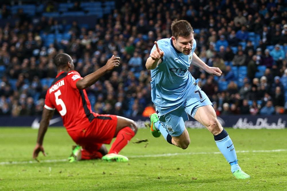 Doing a runner - James Milner will be leaving City this summer. Courtesy@MCFC