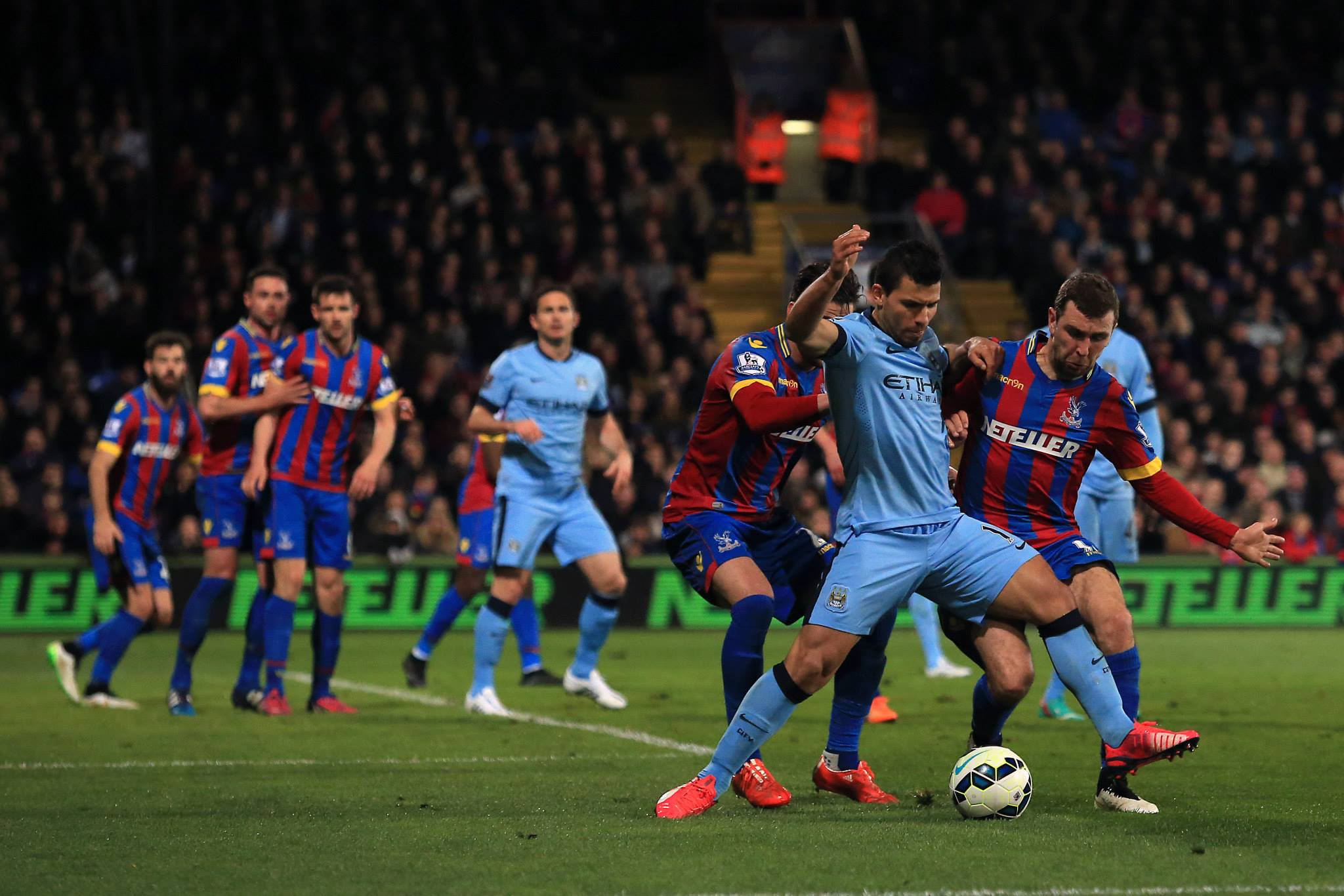 Aguerrrrno - An out of sorts Sergio hit the post at Palace but couldn't help engineer a City win. Courtesy@MCFC