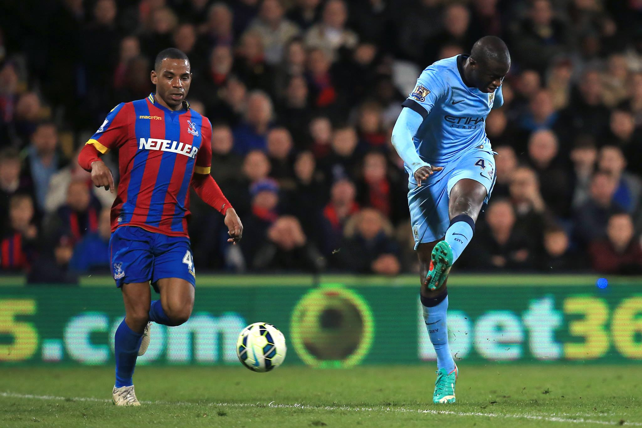 Not enough - Yaya's wonder goal couldn't prevent City sliding to a 2-1 loss at Selhurst Park. Courtesy@MCFC