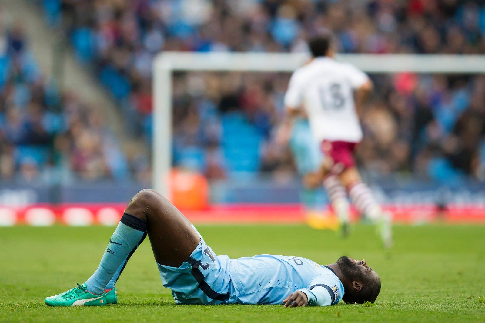 Down and probably out? Has Yaya played his last game for City? Courtesy@MCFC