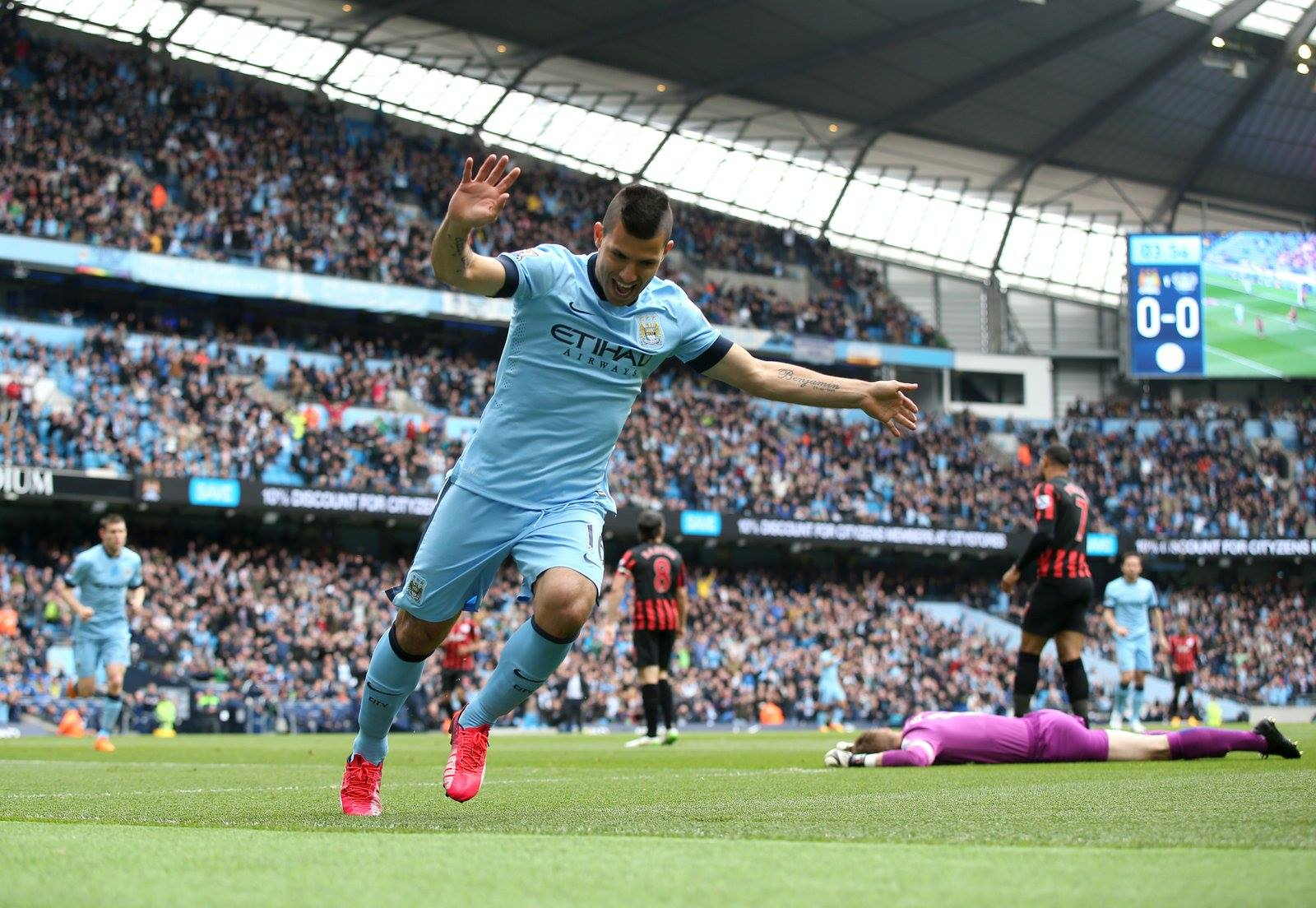 Unstoppable - Sergio is one of a handful of City players who haven't underperformed this season. Courtesy@MCFC