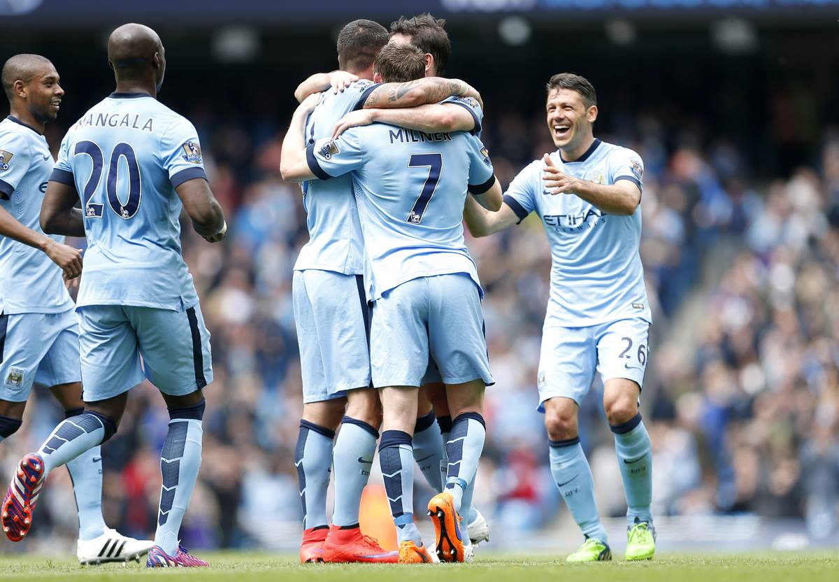 Goal fest - City are the top scorers in the Premier League despite losing their title as Champions. Courtesy@MCFC