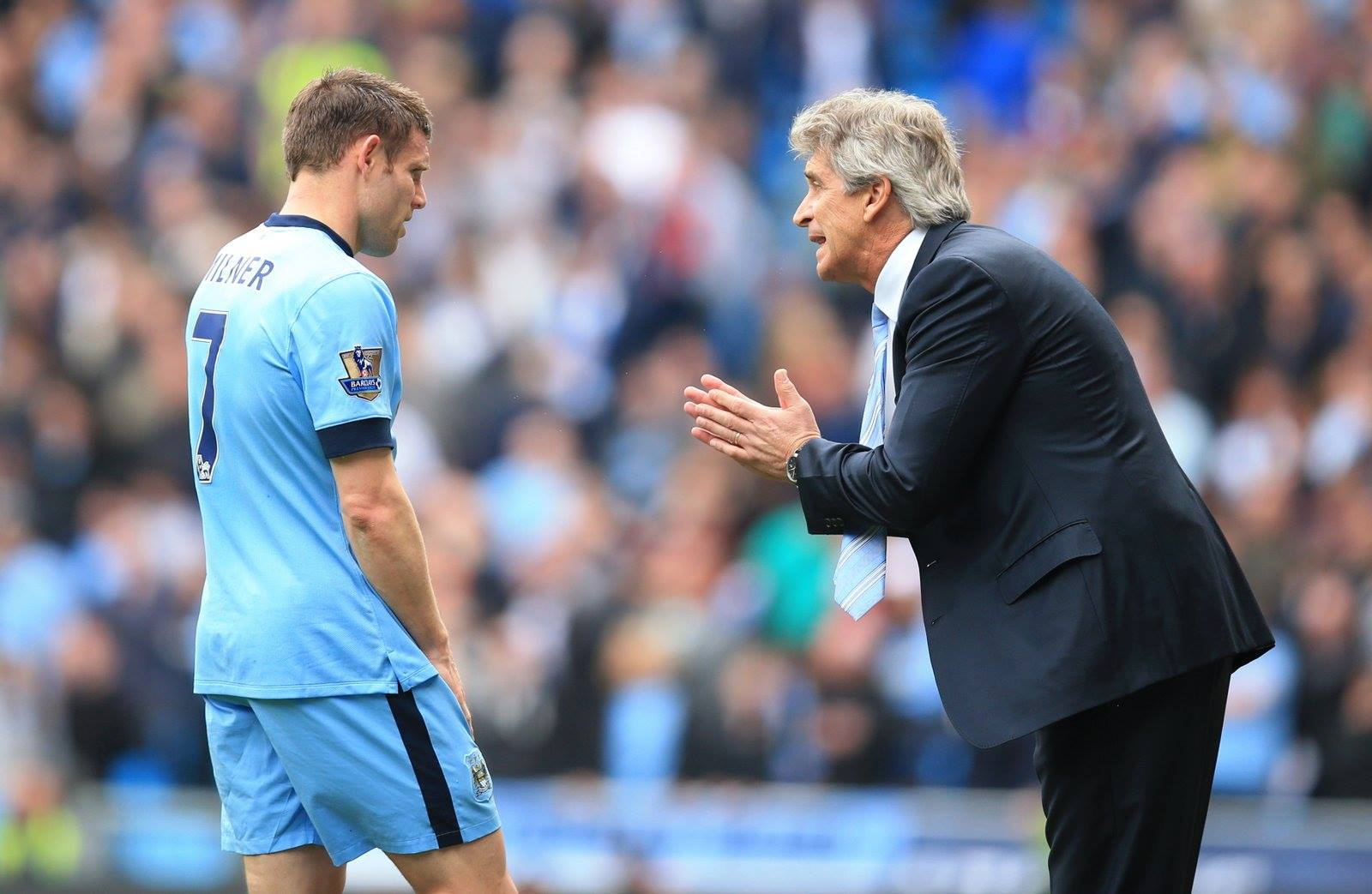 Gone - James Milner has left City despite the best efforts of Manuel Pellegrini to get him to remain. Courtesy@MCFC