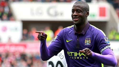 Belated birthday present and Golden Goal - Yaya hit his 50th Premier League goal for City just 4 days after his 32nd birthday. Courtesy@MCFC