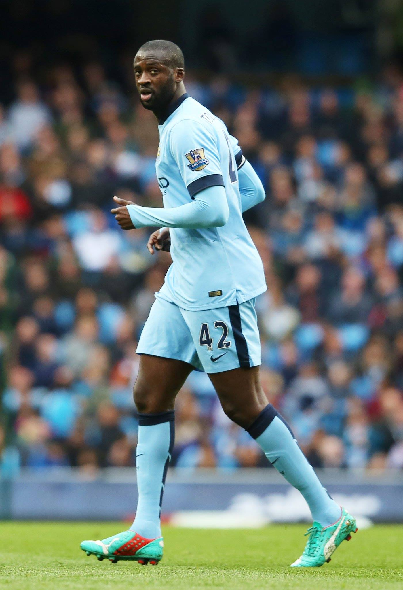 Walk on part - Yaya has only played a supporting role this season after being the main man last year. Courtesy@MCFC