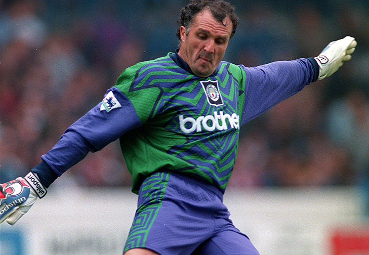 Giant character - John 'Budgie' Burridge was 'short' by goalkeeping standards, but he was the oldest player to grace the Premier League when he played for City in 1995.
