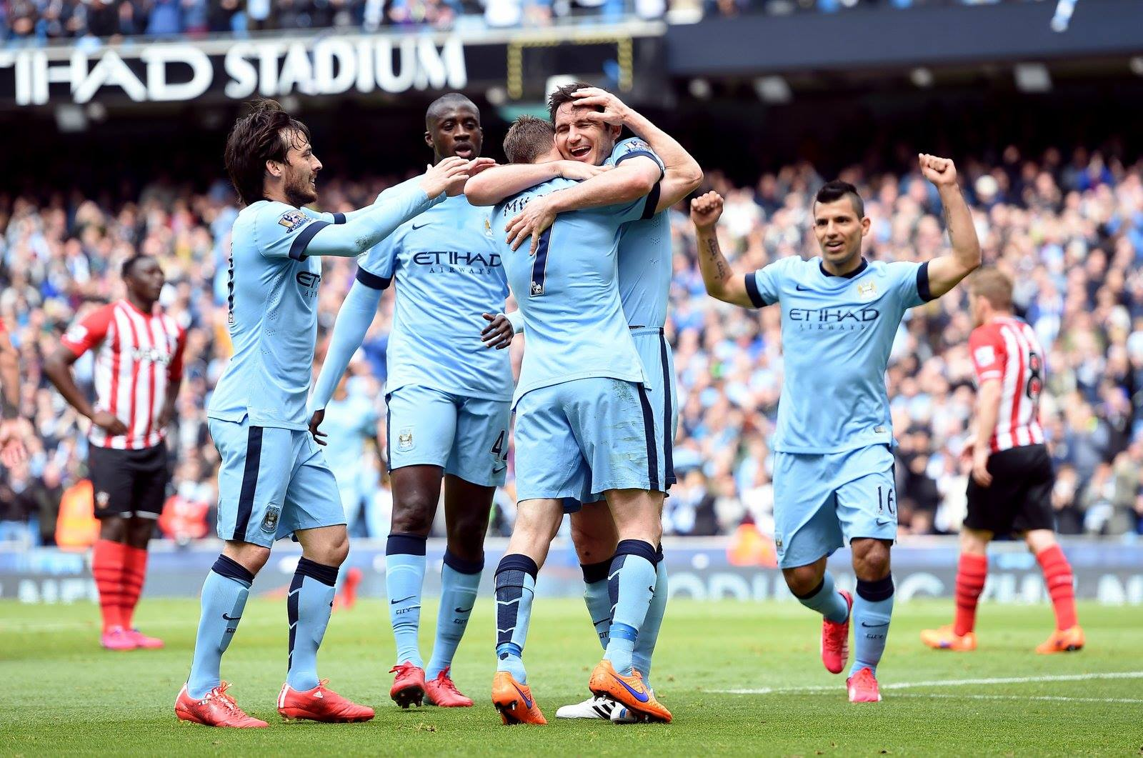 Pulling together - City ensured they finished the season strongly with a good team spirit. Courtesy@MCFC