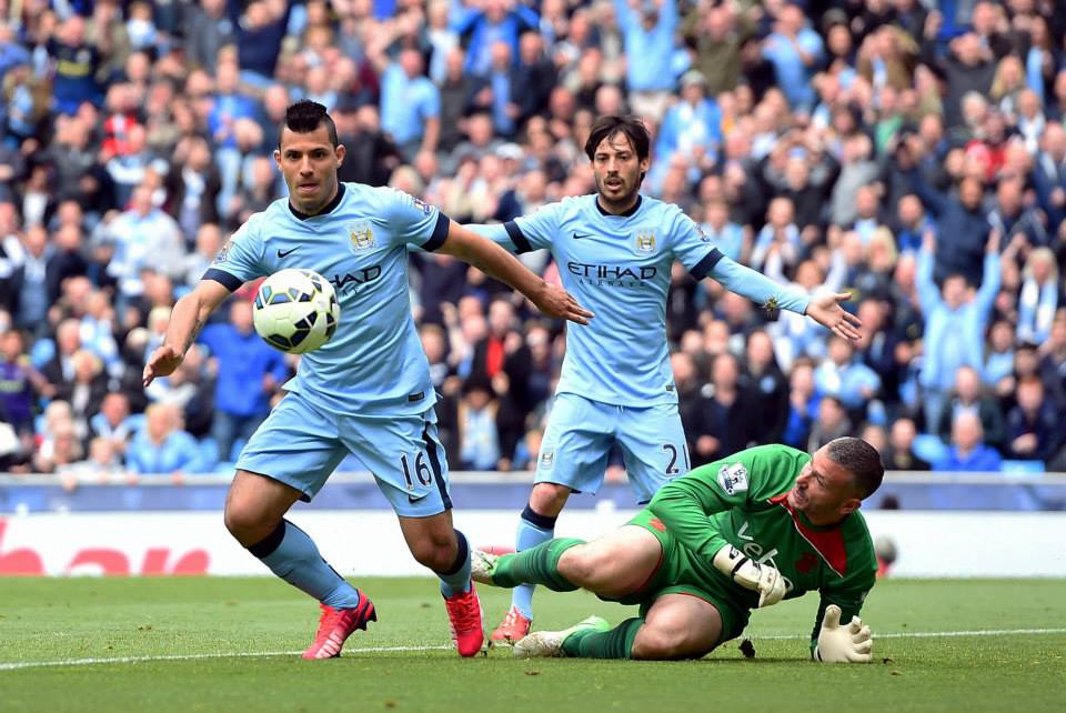 Silva & Gold - David & Sergio have been outstanding, along with Joe Hart, for City in 2014/15. Courtesy@MCFC